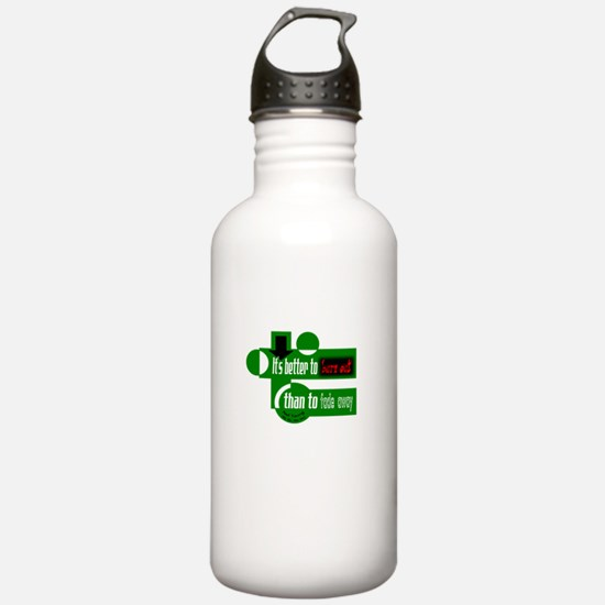 Burn Out/Fade Away-Neil Young Water Bottle