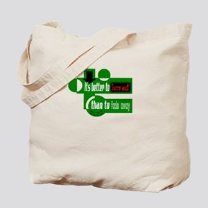 Burn Out/Fade Away-Neil Young Tote Bag