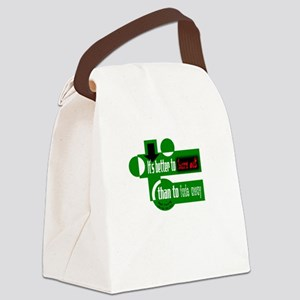 Burn Out/Fade Away-Neil Young Canvas Lunch Bag