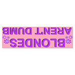 'Blondes Aren't Dumb' Retro Pink Bumper Sticker