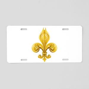 Fleur De Lis Aluminum License Plate