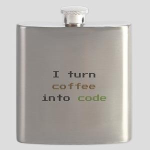 I Turn Coffee Into Code Flask