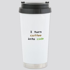 I Turn Coffee Into Code Stainless Steel Travel Mug