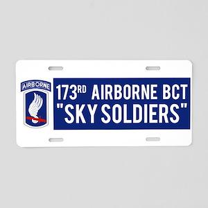 173rd Airborne BCT Aluminum License Plate