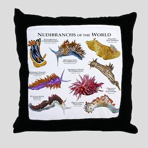 Nudibrachs of the World Throw Pillow