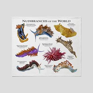 Nudibrachs of the World Throw Blanket