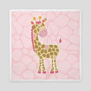 Pink Giraffe Shower Curtain Queen Duvet