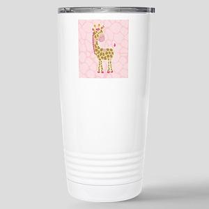 Pink Giraffe Shower Curtain Travel Mug