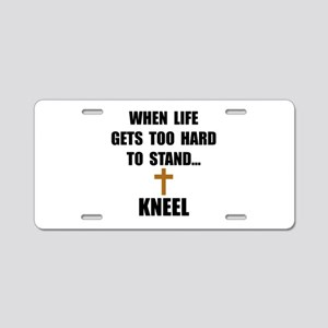 Kneel Aluminum License Plate