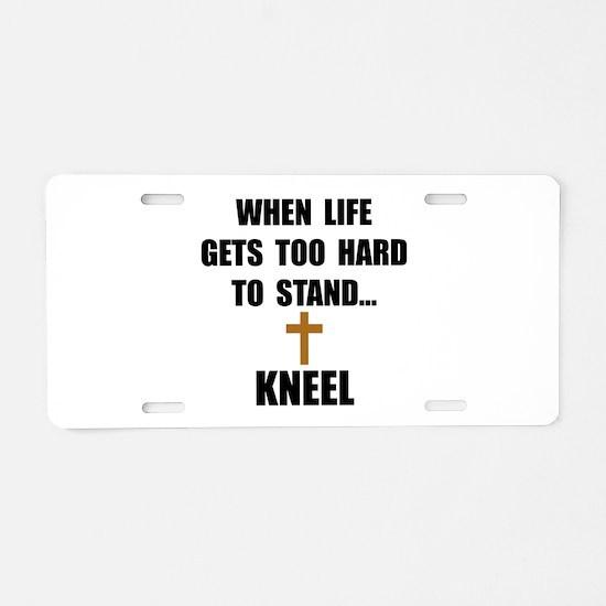 Kneel Aluminum License Plate