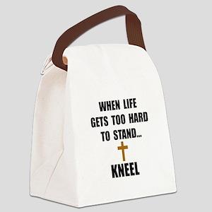 Kneel Canvas Lunch Bag