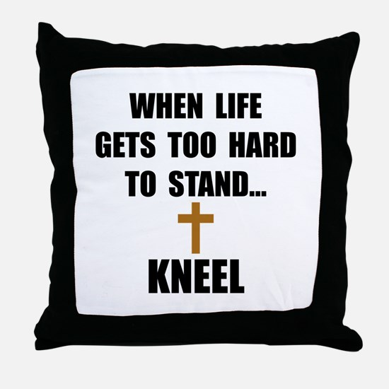 Kneel Throw Pillow