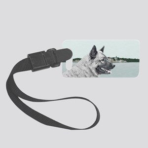 Norwegian Elkhound Small Luggage Tag