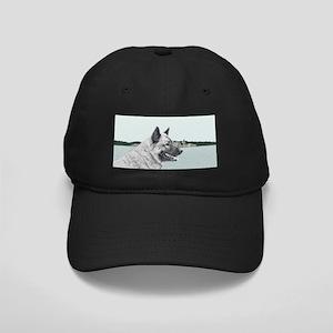 Norwegian Elkhound Black Cap with Patch