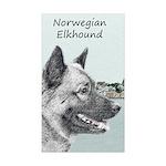 Norwegian Elkhound Sticker (Rectangle 10 pk)