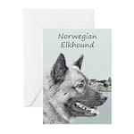 Norwegian Elkhound Greeting Cards (Pk of 10)