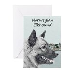 Norwegian Elkhound Greeting Cards (Pk of 20)