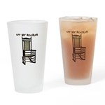 OFF MY ROCKER-1-TAN Drinking Glass