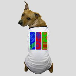 Triathlon TRI Swim Bike Run Colorful Dog T-Shirt