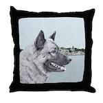 Norwegian Elkhound Throw Pillow
