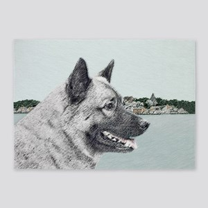 Norwegian Elkhound 5'x7'Area Rug