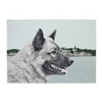 Norwegian Elkhound 5'x7'Area Rug
