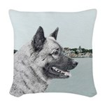 Norwegian Elkhound Woven Throw Pillow