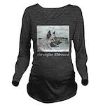 Norwegian Elkhound Long Sleeve Maternity T-Shirt