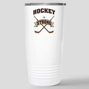 Hockey Strong Stainless Steel Travel Mug