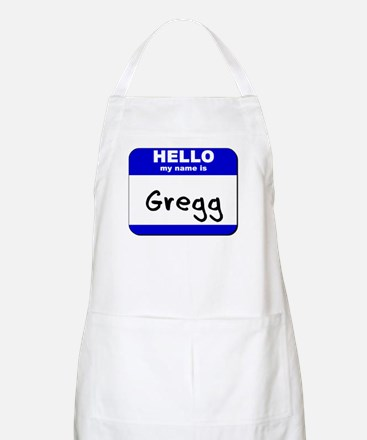 hello my name is gregg  BBQ Apron