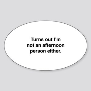 Afternoon Person Sticker (Oval)