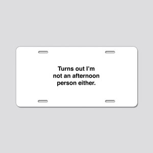 Afternoon Person Aluminum License Plate