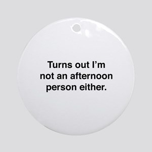 Afternoon Person Ornament (Round)