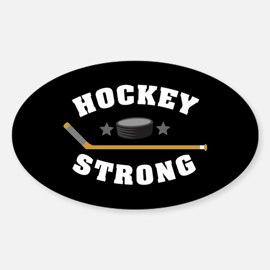 Hockey Strong Sticker (Oval)