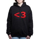 Less than 3 Women's Hooded Sweatshirt