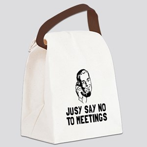 No Meetings Canvas Lunch Bag