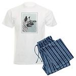 Norwegian Elkhound Men's Light Pajamas