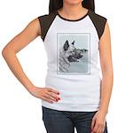 Norwegian Elkhound Junior's Cap Sleeve T-Shirt