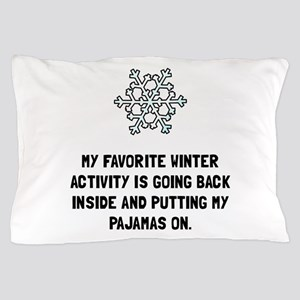 Winter Pajamas Pillow Case