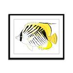Threadfin Butterlyfish Framed Panel Print