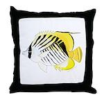 Threadfin Butterlyfish Throw Pillow