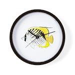 Threadfin Butterlyfish Wall Clock