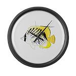 Threadfin Butterlyfish Large Wall Clock
