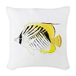 Threadfin Butterlyfish Woven Throw Pillow