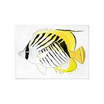 Threadfin Butterlyfish 5'x7'Area Rug