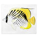 Threadfin Butterlyfish King Duvet