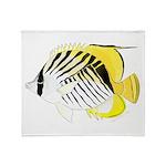 Threadfin Butterlyfish Throw Blanket
