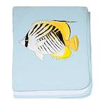 Threadfin Butterlyfish c baby blanket