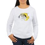 Threadfin Butterlyfish c Long Sleeve T-Shirt