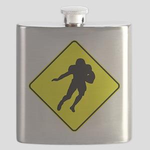 Football Running Back Crossing Flask